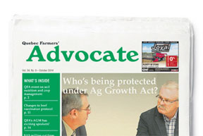 Quebec Farmers Advocate newspaper
