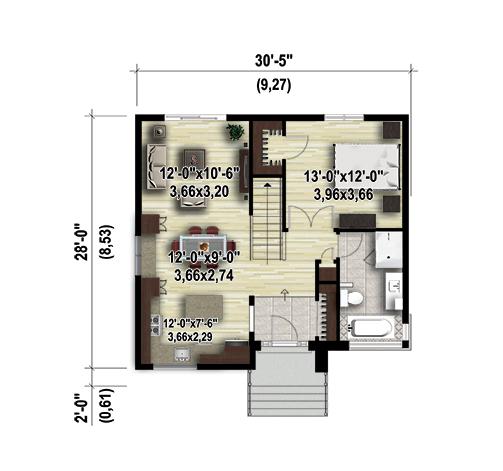 plan de maison a palier