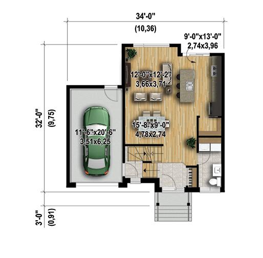 Plan de maison tage la terre de chez nous for Plan maison avec combles