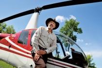 Gaston Lepage a besoin d'espace. Son hélicoptère lui permet de s'évader au besoin. © Stéphane Lemire