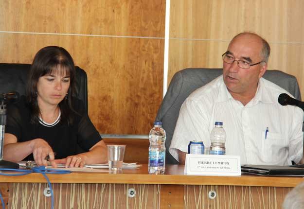La directrice générale et le président d'AGRIcarrières, Geneviève Lemonde et Pierre Lemieux. © AGRICarrières