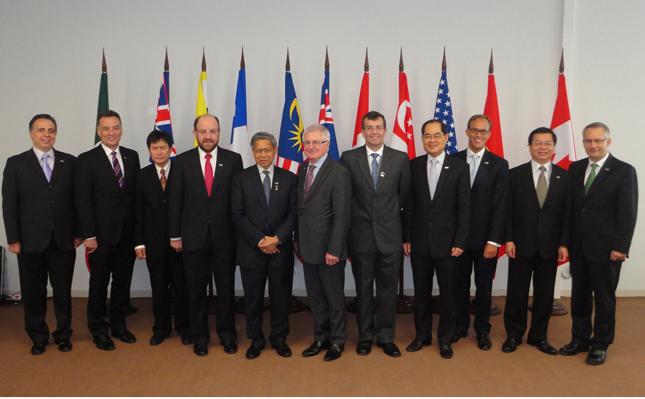 Les ministres du Commerce des 12 pays membres du PTP pourraient se réunir du 30 septembre au 2 octobre. © MAECD
