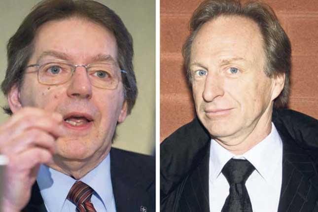 À gauche Michel R. St-Pierre et à droite, Charles Cantin © Archives/TCN