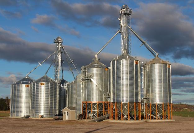 Un centre de grains au Lac-Saint-Jean appartenant à Pangea. Crédit photo : Archives/TCN