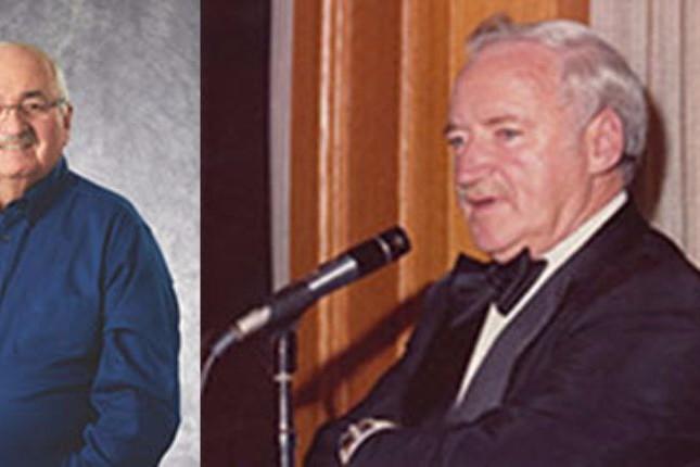 Jon Kinzenbaw et Joe Macdonald (à droite) viennent d'être admis au panthéon de l'Association of Equipment Manufacturers.