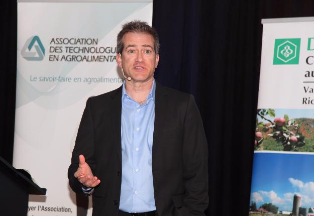 Maurice Doyon était en conférence le matin du 13 janvier au Salon de l'agriculture de Saint-Hyacinthe. Crédit photo : Thierry Larivière/TCN