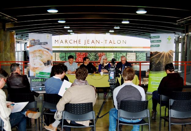 Vigilance OGM a lancé une campagne incitant le gouvernement québécois à déposer un projet de loi obligeant l'étiquetage des organismes génétiquement modifiés (OGM). Crédit photo : Gracieuseté