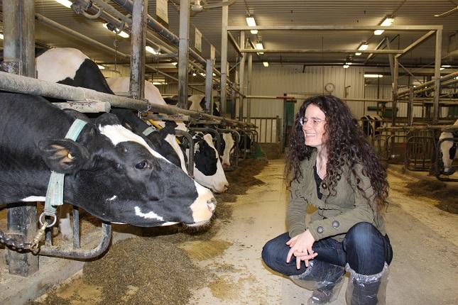 La professeure Elsa Vasseur est spécialiste du confort et du comportement des bovins laitiers. Crédit photo : Université McGill