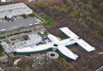 Vue aérienne du nouveau siège social de la coopérative Agropur construit au coût de 89,5 M$. Crédit photo : Gracieuseté d'Agropur/Normand Huberdeau