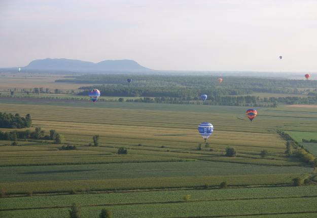 Contrairement à une majorité de montgolfières du festival de Saint-Jean-sur-Richelieu, celle de Parmalat ne pourra pas se poser sur les terres des environs. Crédit photo : Archives/TCN