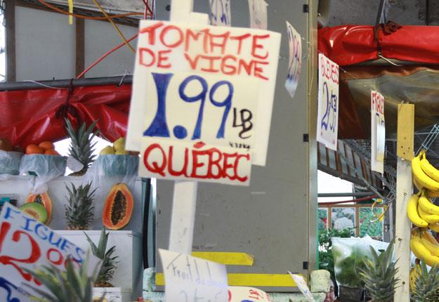 La disparition de l'obligation d'indiquer « produit du Québec » devant les fruits et légumes frais cultivés au Québec avait suscité un tollé l'été dernier. Crédit photo : Archives/TCN