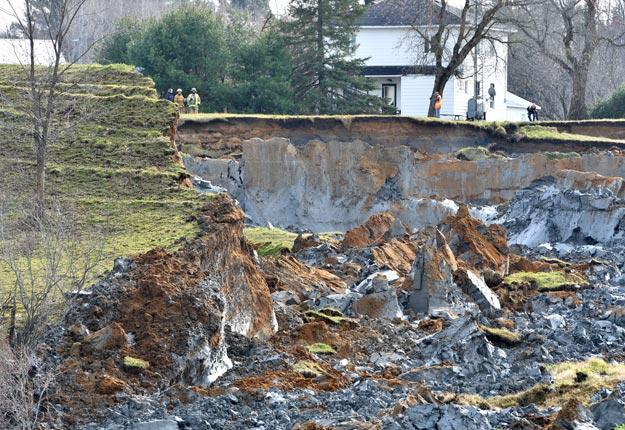Glissement de terrain à St-Luc-de-Vincennes. Crédit photo: Le Nouvelliste