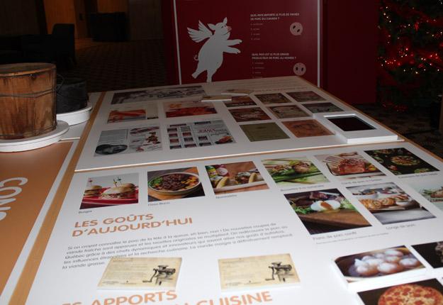 L'exposition interactive sur le porc permet de comparer la cuisine d'hier avec celle d'aujourd'hui. Crédit photos : Ariane Desrochers/TCN