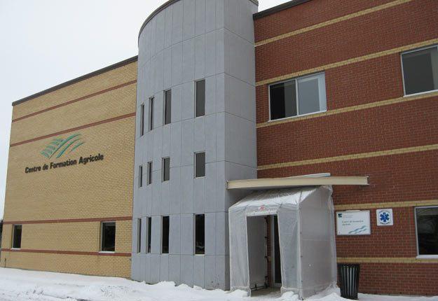Le Centre de formation agricole de Saint-Anselme.
