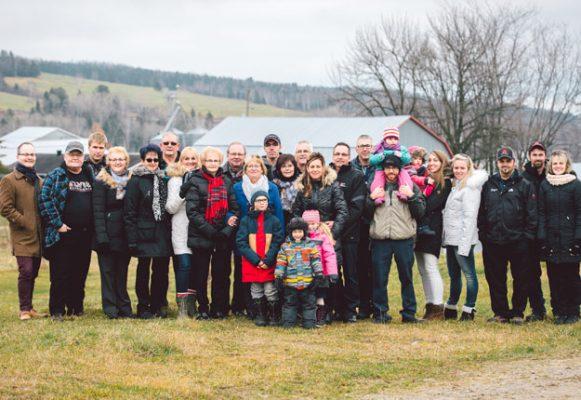 La famille Gauthier. Gracieuseté de la fondation de la Famille agricole de l'année.