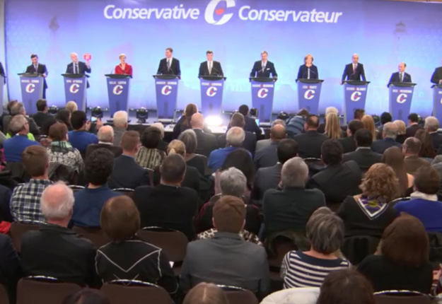 La maîtrise de la langue française s'est révélée ardue pour certains des 13 candidats qui ont participé au débat de Québec. Gracieuseté du Parti Conservateur du Canada.
