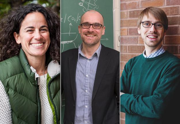 L'Université McGill a délégué les chercheurs Elena Bennett, Andrew Gonzalez et Graham MacDonald à Davos pour réfléchir aux moyens de forger un monde plus durable. Crédit photos : Gracieuseté de l'Université McGill