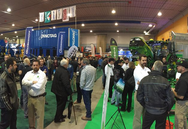 Les visiteurs commencent à affluer au Salon de l'agriculture de Saint-Hyacinthe. Crédit photo: Vincent Cauchy/TCN