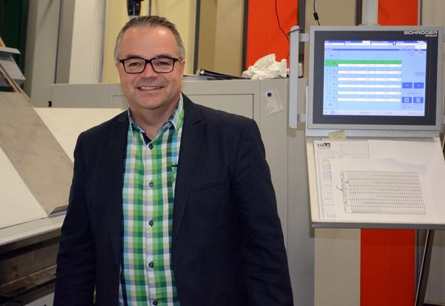 Le défi de René Thériault, le nouveau directeur général de Tôle Vigneault, est de gérer la croissance soutenue de l'entreprise. Crédit photo : Yves Charlebois