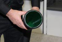 La couleur verte à l'intérieur du Soliflex facilite l'inspection télévisée des drains. Crédit photo : Audrey Desrochers