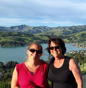Le voyage mère-fille en Nouvelle-Zélande de Karine Morin et Michèle Bourassa est à l'origine de Terroir en VR. Crédit photo : Gracieuseté de Michèle Bourassa