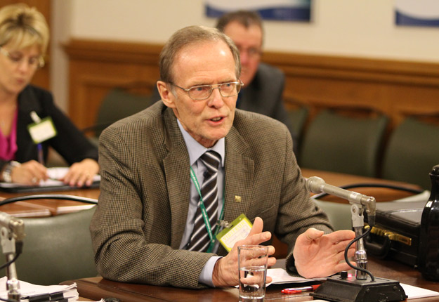 Pierre-Maurice Gagnon, président de la FPFQ, estime que les boisés privés ne sont pas à l'origine du conflit sur le bois d'œuvre. Crédit photo: Archives TCN
