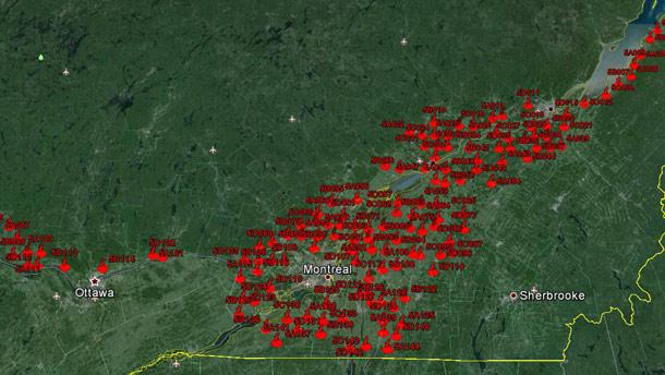 Le décompte de la sauvagine dans les basses terres du Saint-Laurent se concentrera sur 144 parcelles de 2 km2, qui correspondent surtout à des plans d'eau. Crédit photo : Archives/TCN