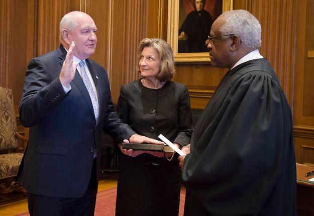Le Sénat américain a confirmé la nomination de Sonny Perdue, le 24 avril, en votant pour sa candidature à 87 voix contre 11. Crédit photo: USDA