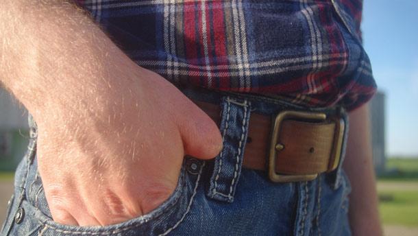 À l'été de ses 15 ans, Christian Beaudry a perdu le bout de son pouce droit. Photo : Gracieuseté Célina Hockley