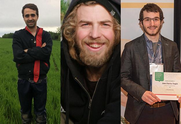 Dans l'ordre habituel, Olivier Bernier, Julien Gauthier, Jean-Charles Toupin.