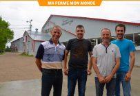Christian Taillon, Olivier Milot, Daniel Taillon et Francis Taillon planifient la relève de l'entreprise depuis plusieurs années. Crédit photo : Guillaume Roy