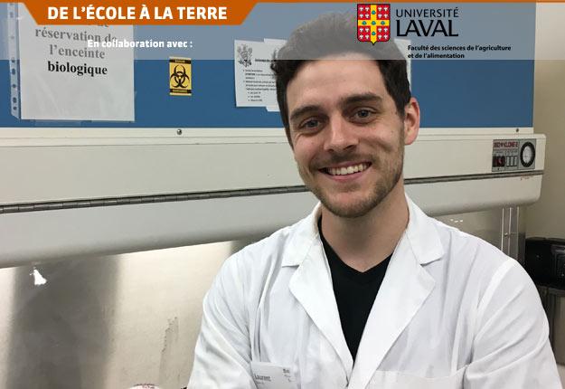 L'équipe de recherche de Laurent Dallaire s'est penchée sur une bactériocine qui suscite l'intérêt de l'industrie alimentaire québécoise pour son potentiel comme agent de conservation des aliments carnés et marins. Photo : FSAA