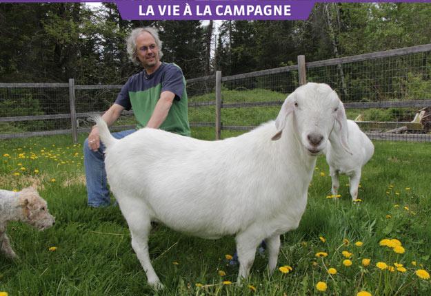 Philippe Laguë adore les animaux. S'il gagnait 10 M$ à la loterie, il leur consacrerait son argent. Crédit photos : Pierre-Yvon Bégin/TCN