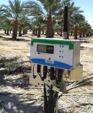 La station de suivi d'Hortau transmet au système de gestion de l'irrigation les données recueillies par des capteurs plantés dans le sol. Crédit photo: Gracieuseté