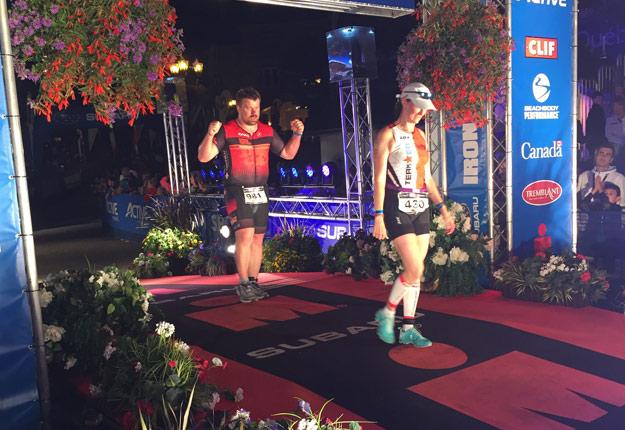 Le 20 août, l'éleveur ovin Maxime Leduc a atteint son objectif de participer à une compétition d'Ironman avant la fin de son doctorat. Crédit photo : Gracieuseté de Maxime Leduc