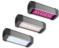 Le luminaireHL300 peut produire un ratio de lumière bleue, rouge ou rouge lointain. Crédit photo: OSRAM