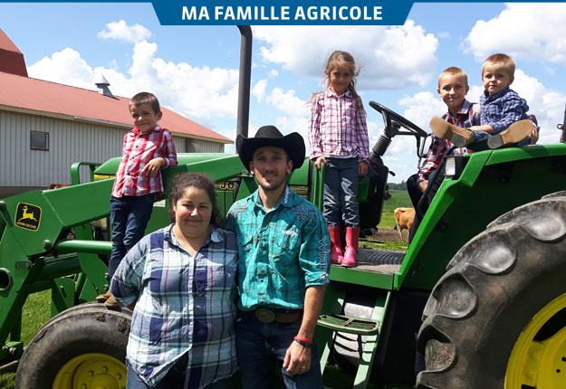 Pour Dave et Nadia, le quotidien à la ferme avec les enfants vaut tous les sacrifices du monde. Crédit photo : Gracieuseté de Dave Bérubé