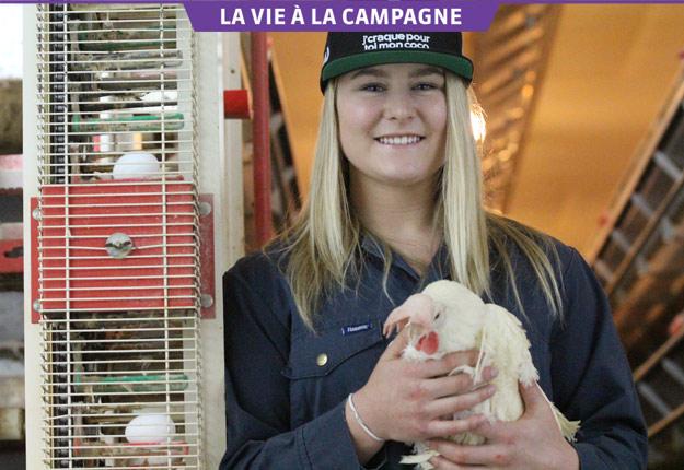 Valérie Grenier veut revenir à la production d'œufs après sa carrière en ski alpin dans l'équipe nationale. Crédit photo : Thierry Larivière/TCN
