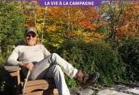 La paix en toute simplicité, c'est ce qu'inspire la nature des Laurentides au comédien Luc Guérin. Crédit photo : Gracieuseté de Luc Guérin