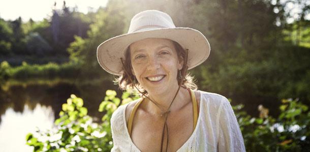 Teprine Baldo, de l'entreprise Le Noyau, est mentorée par Daniel Brisebois, de la Ferme coopérative Tourne-Sol. Crédit photo : Jocelyn Michel - leconsulat.ca