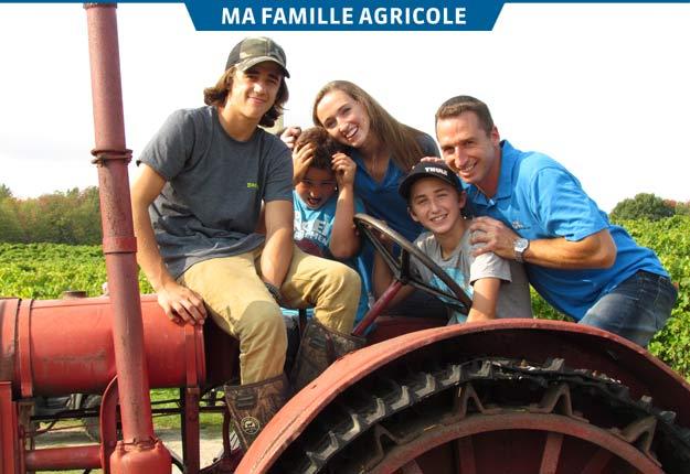 Lors des vendanges tout particulièrement, Richard Bresee peut compter sur l'aide de ses quatre enfants : Mackenzie, Gavin, Vanessa et Parker. Crédit photo : Gracieuseté du Domaine Bresee