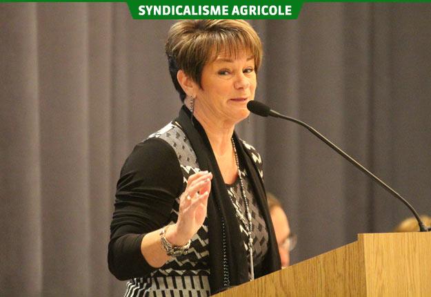 Jacynthe Gagnon, présidente de la Fédération de l'UPA de la Capitale-Nationale–Côte-Nord. Crédit photo : Thierry Larivière/TCN