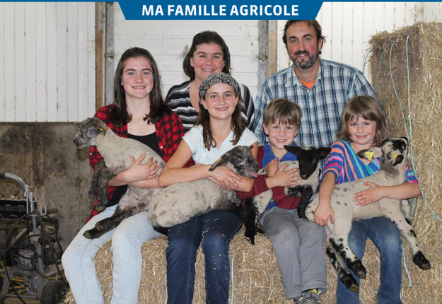 Toute la famille Boulé-Châtelain s'implique dans l'entreprise familiale. Crédit photo : Julie Mercier/TCN