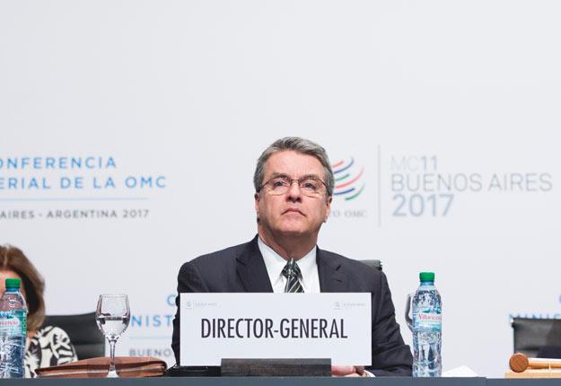 Roberto Azevêdo, directeur général de l'OMC, a admis la déception de plusieurs pays membres en raison du peu de progrès accompli à Buenos Aires, en Argentine. Crédit photo : OMC