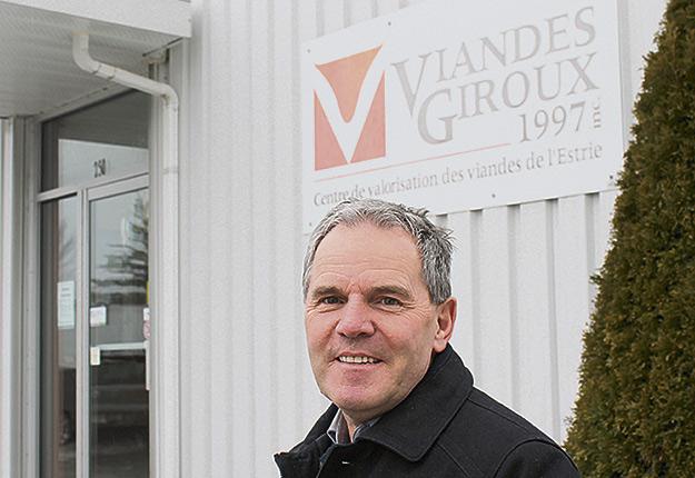 Roger Giroux demeurera à la tête de l'abattoir d'East Angus vendu à Viandes Riendeau. Crédit photo : Pierre-Yvon Bégin / TCN