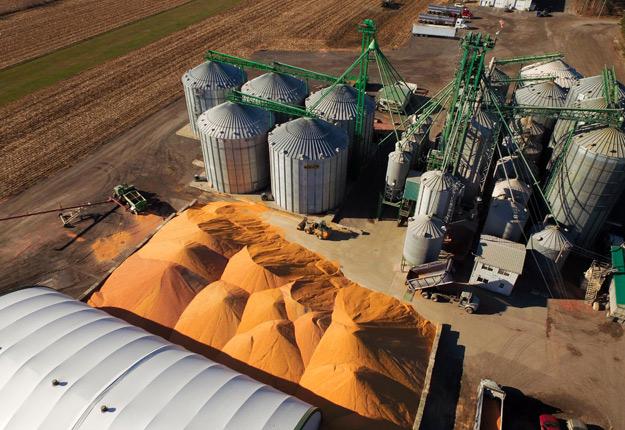 Les producteurs ont livré environ 3 000 tonnes de maïs en seulement huit jours au Groupe Ducharme, du Centre-du-Québec. La récolte de maïs 2017 en inquiétait plusieurs. Elle s'est finalement révélée bonne et même très bonne pour certains. Crédit photo : Groupe Ducharme