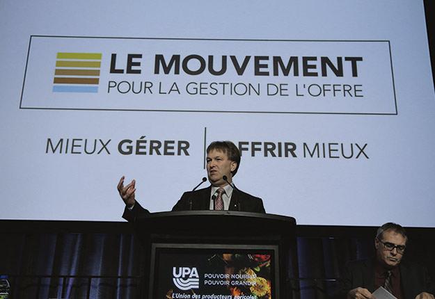 Le président de la Fédération des producteurs d'œufs du Québec, Paulin Bouchard. Crédit photo : Pascal Ratthé
