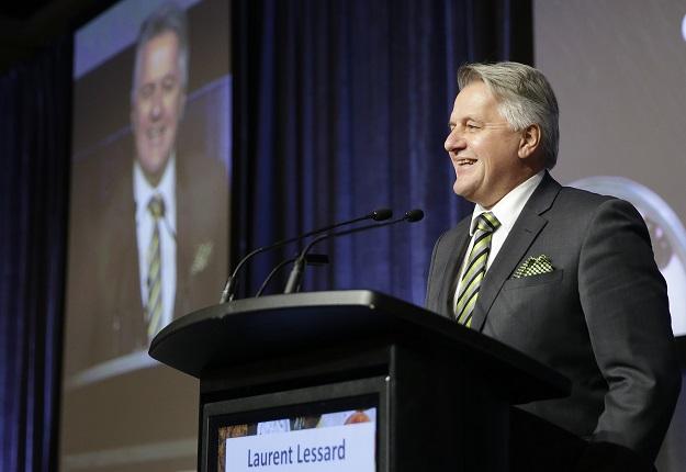 Le ministre Lessard a fait le bilan de ses nombreuses actions depuis son arrivée en poste au début 2017. Crédit photo : Pascal Ratthé