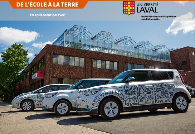 À Montréal et à Laval, les Fermes Lufa, qui possèdent une plateforme de vente en ligne et une flotte de voitures électriques pour la livraison, suscitent un réel intérêt de la part des consommateurs. Crédit photo : Les Fermes Lufa