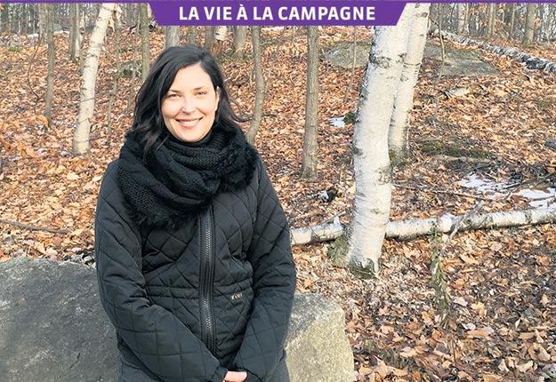 La comédienne vit à temps plein à la campagne depuis sept ans. Crédit photo : Gracieuseté de Catherine Sénart.